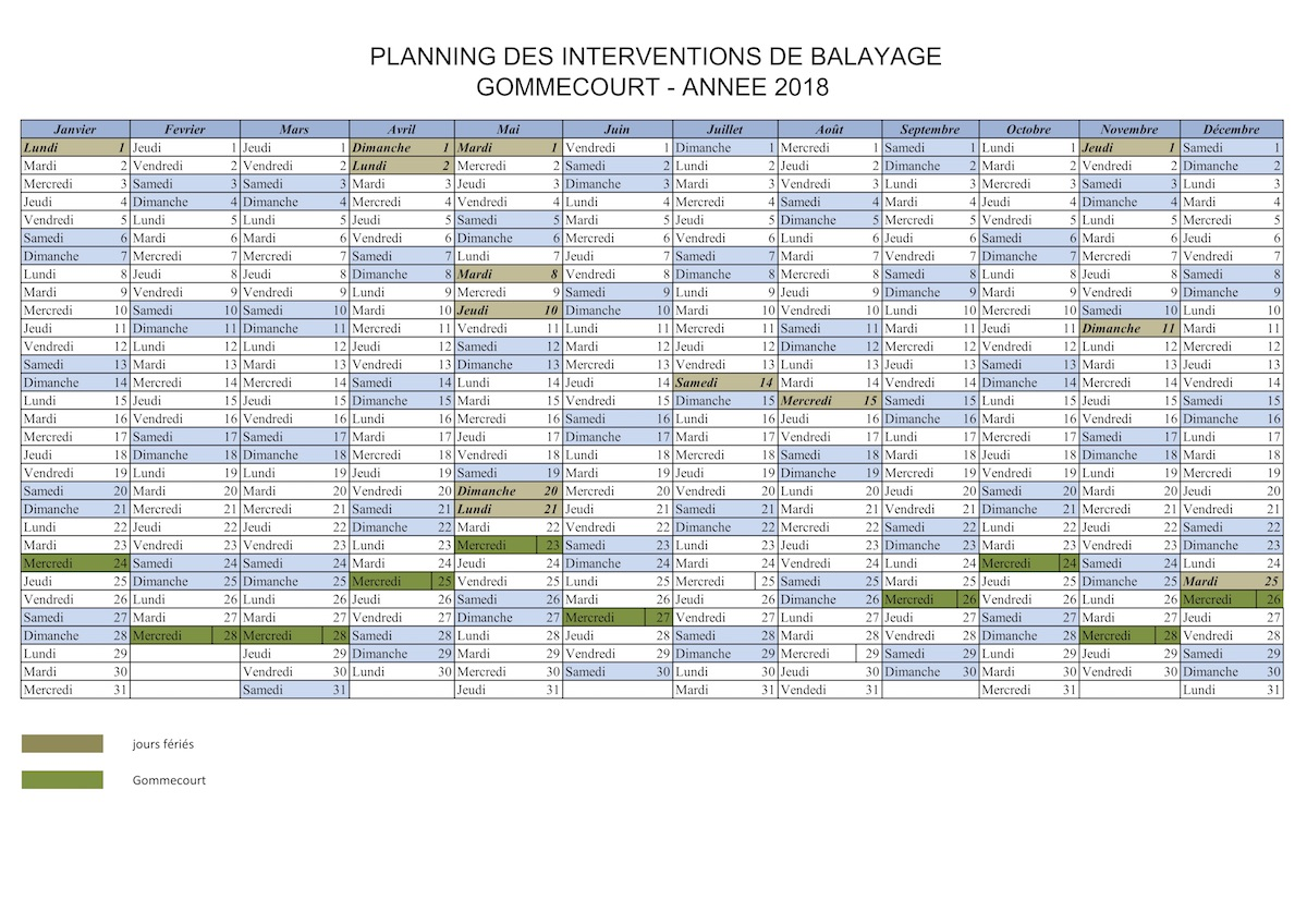 planning balayage gommecourt 2018