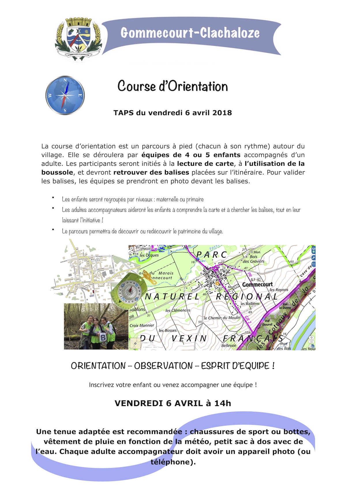 TAPS 6 avril Course d'Orientation